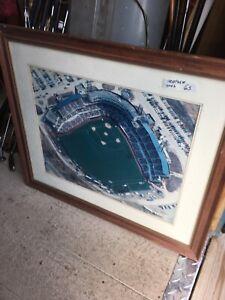Large 1994 Syracuse Chiefs Baseball Opening Day Aerial Photo Signed