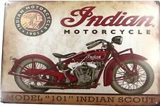 US SELLER, Indian motorcycle metal tin sign dining room wall decor