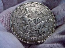 """Hobo Nickel Style Morgan DOLLAR SIZE Silver Clad Coin -Sexy Rare Series """"10""""- x1"""
