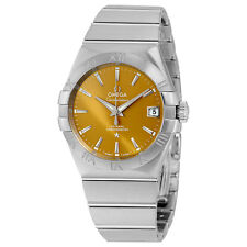 Omega Constellation Co-Axial Bronze Dial Stainless Steel Mens Watch