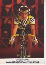 CYCLISME carte cycliste CHRISTIAN CORRE équipe RENAULT ELF 1985