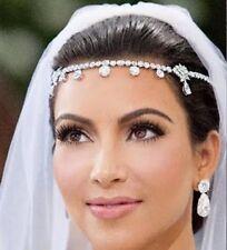 Bridal Tiara Wedding Photo Prom Hair Head Chain Band Crystal Headpiece Jewellery