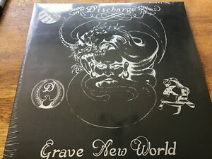 Discharge - Grave New World LP Clear Vinyl New and Sealed MINT
