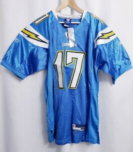 NWT NFL Chargers #17 Philip Rivers Reebok Triple Stitched Jersey size 52