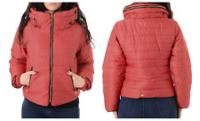 Womens Padded Puffer Jacket Ladies Fur Trim Winter Hooded Quilted Coat Thick