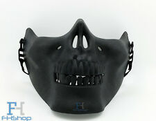 Half Skull Face Halloween Skeleton Fancy Party Dress Protection Mask Black