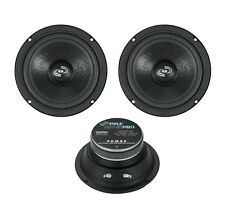 2 New PDMR6 6.5'' 1200 Watt Car Audio Mid Bass Mid Range Woofers Audio Speakers