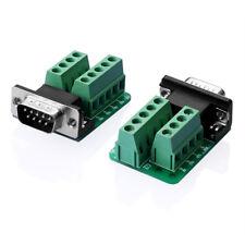 RS232 D-SUB DB9 Stecker Adapter zum Terminal-Anschluss Signal-Modul GN