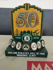 Oakland A's Athletics 2018 Hall of Fame Plaque SGA statue no bobblehead 9/5