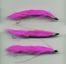 Trout Flies: The Pink Snake Flies. X 3 all size 8 all tied in the UK (code 155a)