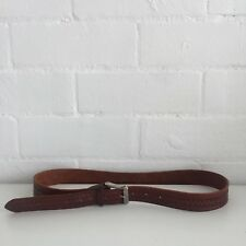Vintage Brown TOOLED 70's BELT Country Hippy UNISEX