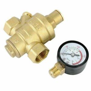 Druckminderer DN15 1/2'' Wasser Messing Druckregler Reduzierventil Manometer L