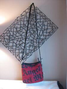 Vintage LeSportsac Gwen Stefani L.A.M.B. Crossbody Bag Red & Black W Charm