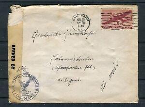 Zensurbeleg USA 15 Cents EF Oak-Park-Johanniskirchen - b5051