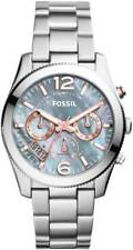 FOSSIL Silver Tone Boyfriend Gray Mother of Pearl Dial Ladies Watch ES3880