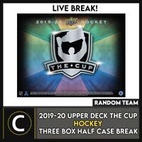 2019-20 UPPER DECK THE CUP HOCKEY 3 BOX (HALF CASE) BREAK #H1073 - RANDOM TEAMS