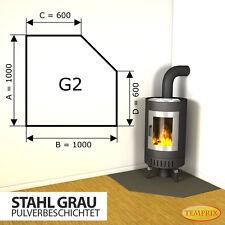 Kaminbodenplatte Funkenschutz ✔ Ofenplatte Ofen Kaminofenplatte Stahl ✔ grau G2