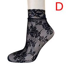 Soft Black Fishnet Mesh Lace Ruffle Socks Stockings Short Ankle Sexy 2018 WomenM