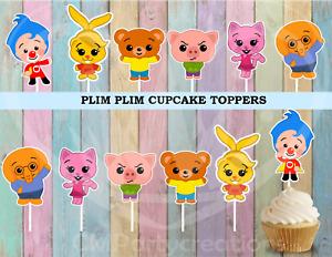 Plim Plim Payaso Party Cupcake Toppers