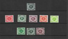 Ireland - 1925-70 - Postage Due issues - 9 stamps - unmounted mint & used