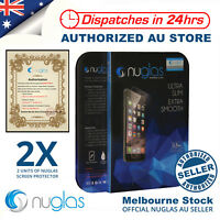 2x NUGLAS Tempered Glass Screen Protector for Apple iPhone X 8 7 5 6 6s Plus