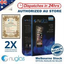2x NUGLAS Tempered Glass Screen Protector for Apple iPhone X 8 7 5 6 6s Plus Lot