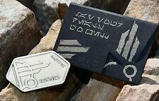 New Star Wars Galaxys Edge Silver Spira Batuu Metal Coin Gift Card No Value