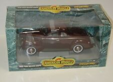 American Muscle - 1940 Ford Deluxe Coupe w/ Box Burgundy - # 7936 - 1:18