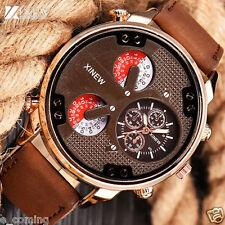 Luxury XINEW Men Aviator Automatic Mechanical Military Sport Leather Wrist Watch