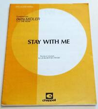 Partition sheet music BETTE MIDLER : Stay With Me (The Rose) * 70's