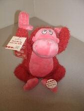 """Hallmark """"Pick me up and I go ape"""" Animated Plush Ape"""