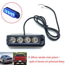 1PC Patrol Vehicle LED Side Marker Emergency Strobe Lights Deck Dash Grille Blue