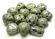 TUMBLED - (1) Large PYRITE Crystal with Description Card - Healing Stone Reiki