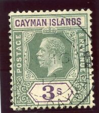 Cayman Islands 1908 KEVII 3s green & violet very fine used. SG 50. Sc 42.