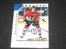 DANIEL CLEARY BLACKHAWK 1998 PINNACLE NHL CERTIFIED HAND SIGNED AUTOGRAPHED CARD