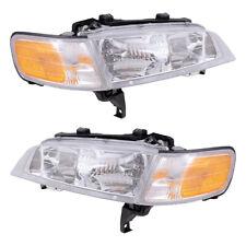 New Pair Set Headlight Headlamp Lens Housing Assembly for 94-97 Honda Accord