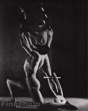 1948/81 Vintage GEORGE PLATT LYNES Male Nude Orpheus Ballet Duotone Photo 16X20