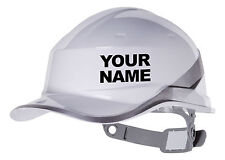 2x Your Name Hard Hat Vinyl Decal Warehouse Sticker Choose Colour Amp Font