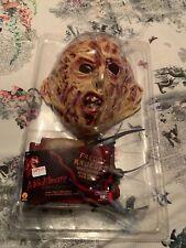 New Men's Halloween Freddy Krueger Fancy Dress Horror Costume Size Medium