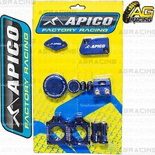 Apico Bling Pack Blue Blocks Caps Plugs Clamp Cover For Yamaha YZF 250 2009-2013