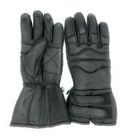 Men's Snowmobile Motorcycle ATV Winter Leather Thinsulate Lined Gloves Gauntlet