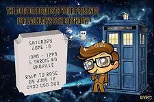 Personalised Dr Who BirthdayWedding Invitation Invite- Dalek, Doctor Who Tardis
