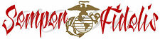 "23"" SEMPER FIDELIS VINYL DECAL EGA STICKER USMC MARINE CORPS YOU CHOOSE COLOR"