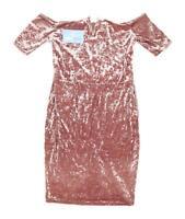 New Look Womens Size 14 Textured Pink Dress (Regular)