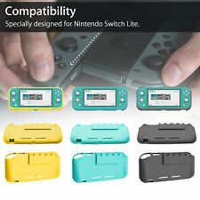 For Nintendo Switch Lite Anti-Slip Protective Skin Case Cover + Screen Protector