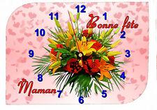 horloge fête des mères bonne fête maman réf FM17 avec prénom personnalisable