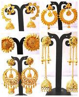 22K Gold Plated Different Designer Variation Indian Stud Earrings Jhumka