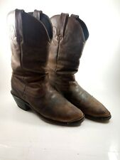 Durango Flat Distressed Brown Leather Western Boots Womens Size 8
