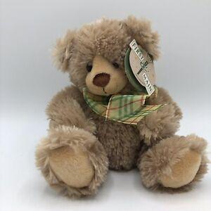 "First & Main Teddy Bear Maxwell 8"" Brown Plaid Bow Stuffed Animal"
