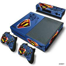 Xbox One Console Skin Decal Sticker Superman + 2 Controller & Kinect Skins Set